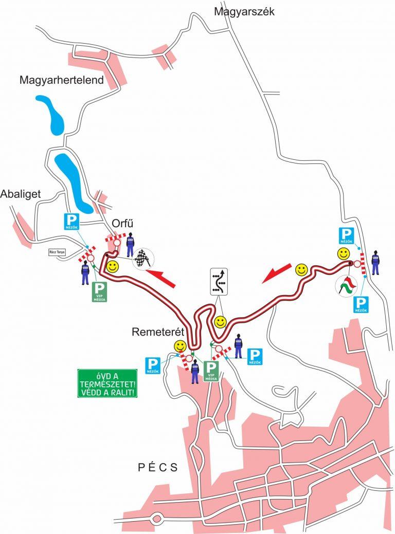 Útlezárás Pécs és Orfű között június 26-án